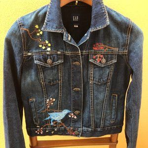 Gap Embroidered Jean Jacket